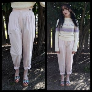 Awesome! Vintage 80's light pink pleated pants!